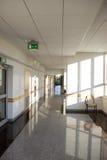 Corridor in modern building. Sunny corridor in modern building Stock Photography