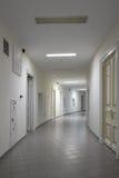Corridor in modern hospital. White corridor in modern hospital stock image
