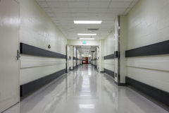 Corridor in a modern hospital. Stock Photo