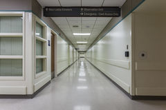 Corridor in a modern hospital. Stock Image