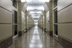 Corridor in a modern hospital. Royalty Free Stock Photography