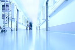 In the corridor of a modern hospital Stock Image