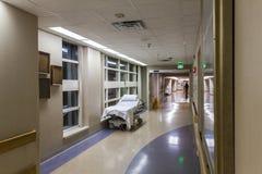 Corridor in a modern hospital. Royalty Free Stock Photo