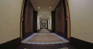 Corridor of Modern Hotel stock footage