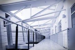 Corridor in modern office stock photos