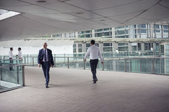 The corridor at modern office building stock photo