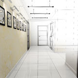 Corridor in modern office Stock Images
