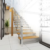Corridor in modern office Stock Image