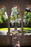 Garden view in a Monastery. Royalty Free Stock Image