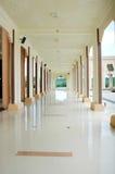A corridor at mosque Baitul Izzah. In Tarakan Indonesia Stock Photo