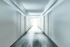 Corridor with motion blur Royalty Free Stock Photography