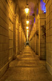 Corridor in the night Royalty Free Stock Photos