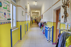 Kindergarten corridor Stock Photo