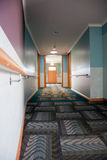 Corridor in nursing home. Low angle view Stock Images
