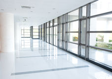Corridor of the office building stock image