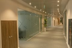 Corridor in office. With modern design Stock Images