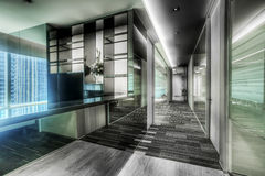 Corridor in office. Corridor in new  interior modern office Royalty Free Stock Photos