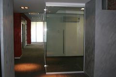Corridor in the office. Perspective.  Stock Photos