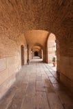 Corridor in old building. Long corridor in old building stock photos