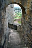 Corridor in old castle Stock Photos