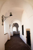 A corridor of an old castle Stock Images