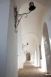 A corridor of an old castle Royalty Free Stock Photography