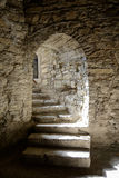 Corridor in the Old Fortress in the Ancient City of Kamyanets-Podilsky Royalty Free Stock Photo