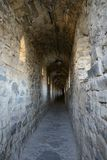 Corridor in the Old Fortress in the Ancient City of Kamyanets-Podilsky Royalty Free Stock Images