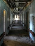 Corridor in an old hospital Royalty Free Stock Image