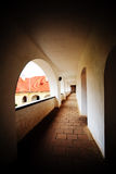 Corridor of old Palanok Castle Royalty Free Stock Image