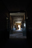 Corridor of old school Humberstone, Chile Stock Images