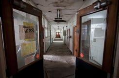 Corridor with open door Royalty Free Stock Images