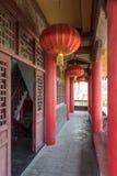 The corridor outside Wangyue Tower (Moon Tower) Stock Photos