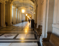 Corridor of Paris courthouse, France Royalty Free Stock Images