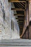 A corridor part of an old citadel/fortress Stock Photos