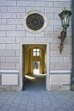Corridor passage with lantern and round window. Corridor passage at Munich street with lantern and round window Royalty Free Stock Photography