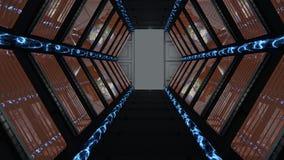 Corridor passing spaceship science fiction Stock Image