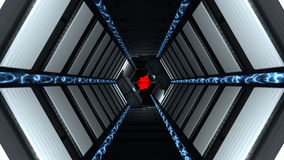 Corridor passing spaceship science fiction Stock Images