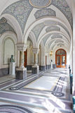 Corridor of the Peace Palace, The Hague. Corridor of the Peace Palace heading to the Court Room royalty free stock photo