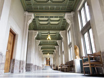 Corridor of the Peace Palace stock image