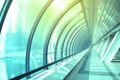 Corridor. Perspective of long futuristic corridor Royalty Free Stock Images
