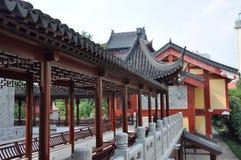 Corridor in Pilu Temple, Nanjing, China Royalty Free Stock Photos