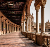 Corridor of Plaza de Espana , Spain Stock Photography