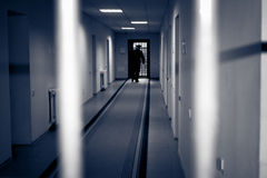 Corridor prison. Royalty Free Stock Images