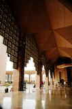 Corridor of Putra Mosque in Malaysia Stock Images