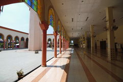 Corridor of Putra Nilai Mosque in Nilai, Negeri Sembilan, Malaysia. Negeri Sembilan, Malaysia – March 06, 2014: Putra Nilai Mosque was located at Nilai, Negeri Stock Photos