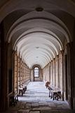 Corridor in Queen's college, Oxford Stock Image