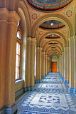 Corridor in The Residency of the Chernivtsi National University. Metropolichy building. Western Ukraine Royalty Free Stock Image