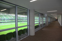 Corridor and rows of seats in stadium Royalty Free Stock Photo