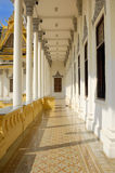 Corridor in royal palace Royalty Free Stock Image